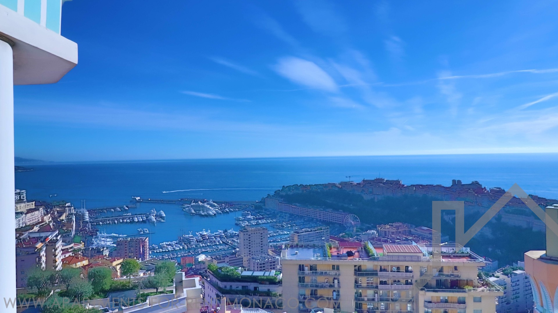 2 bedrooms apt. of 115 sqm - 2 terraces sea view - Apartments for rent in Monaco