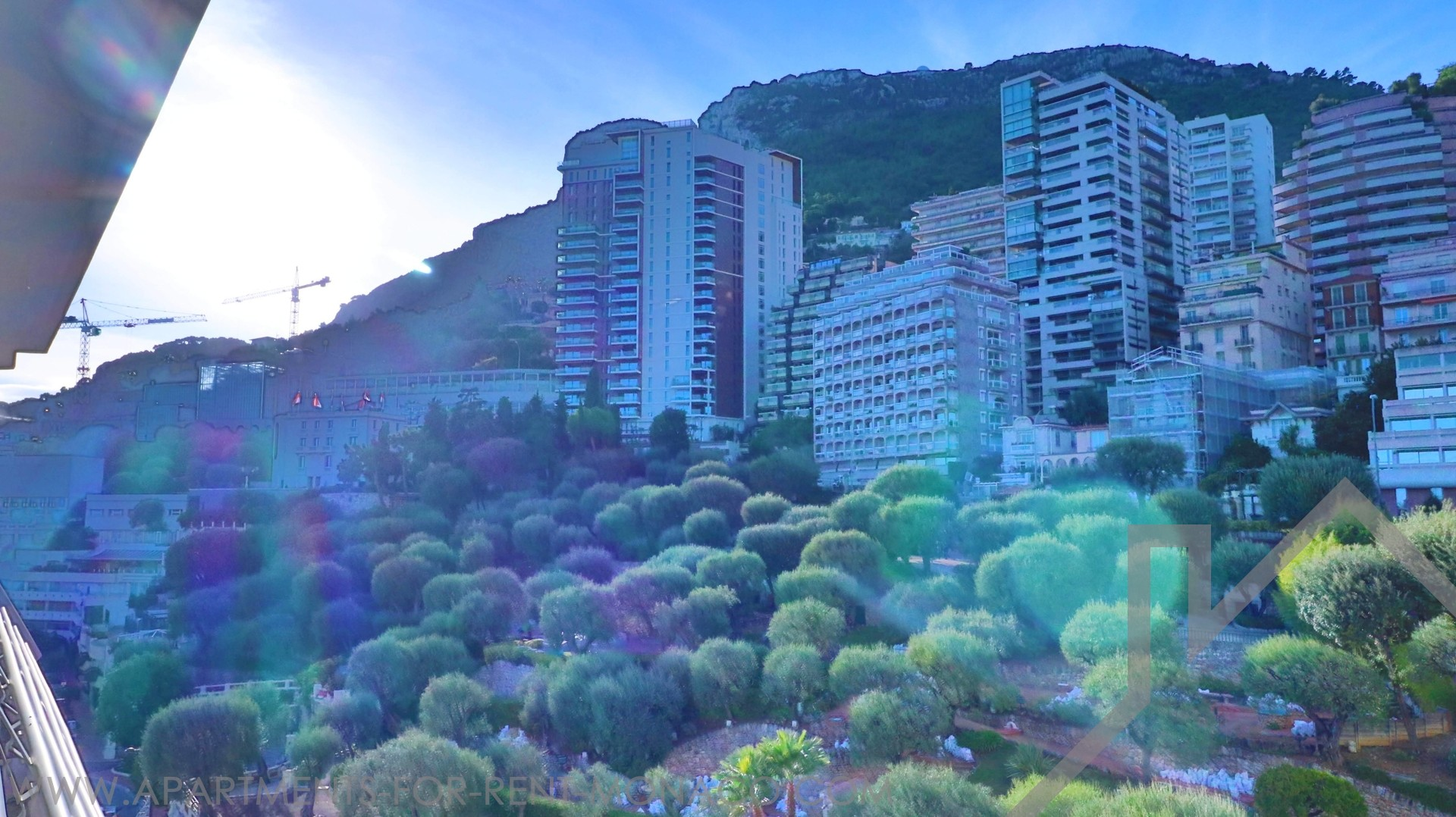 Beautiful studio, terrace offering view mountain - Apartments for rent in Monaco