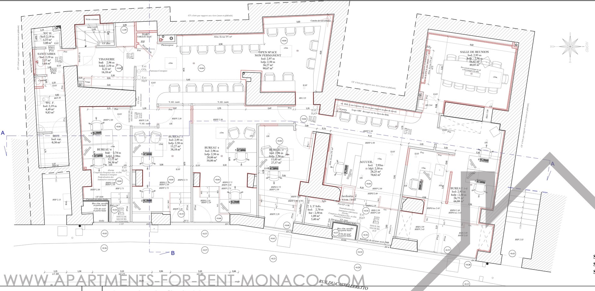 bureaux entierement renoves en rez de chaussee. Black Bedroom Furniture Sets. Home Design Ideas