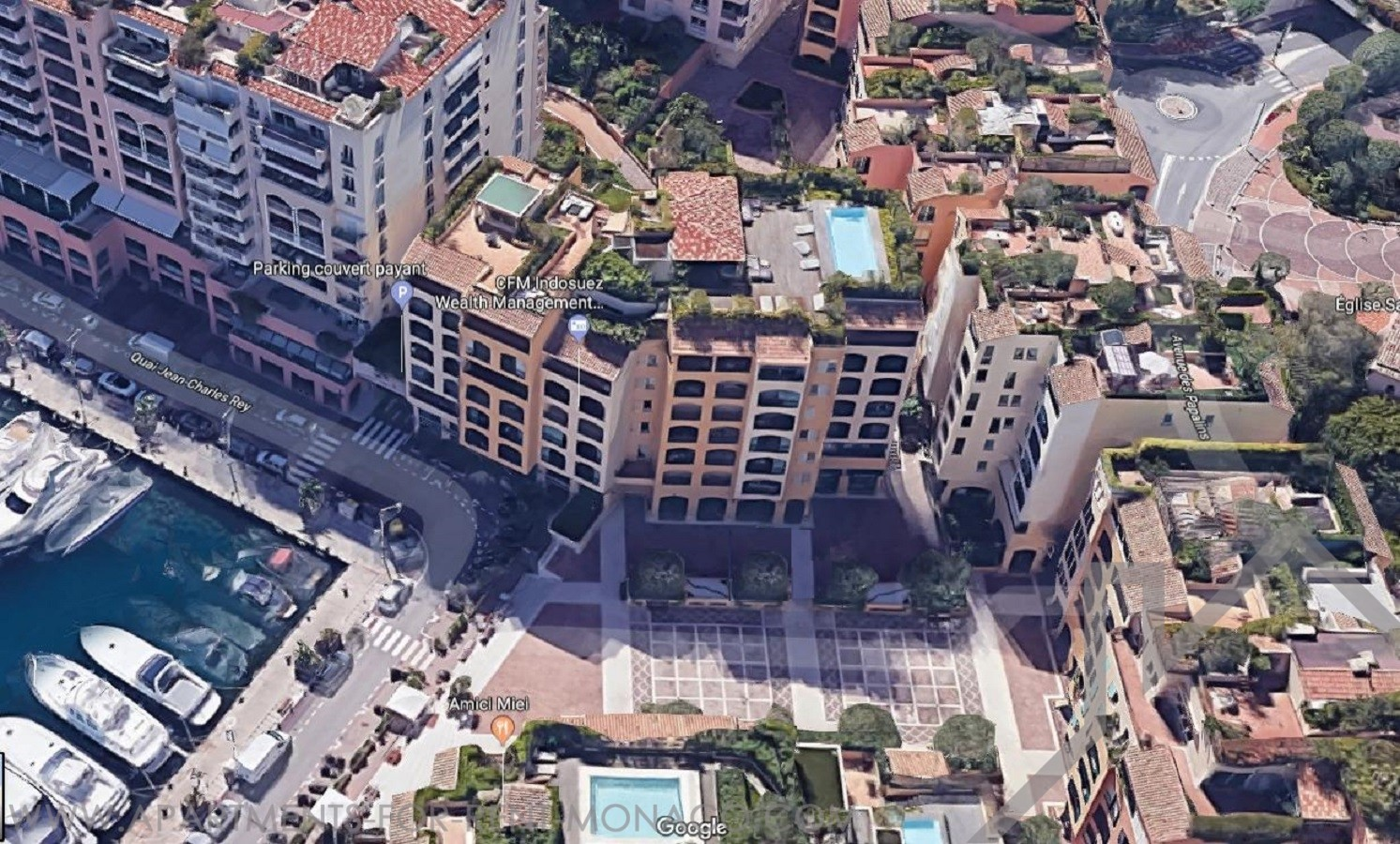 FONTVIEILLE MANTEGNA 43 m² WITH CELLAR - Apartments for rent in Monaco